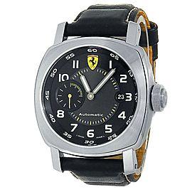 Panerai Ferrari Scuderia Stainless Steel Leather Auto Black Men's Watch FER00002