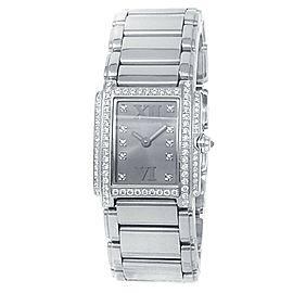 Patek Philippe Twenty-4 18k White Gold Diamonds Grey Ladies Watch 4908/200G-001