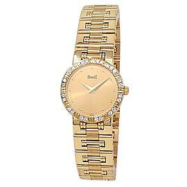 Piaget Dancer 18k Yellow Gold Quartz Diamonds Champagne Ladies Watch 80564 K81
