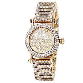 Cartier Diabolo 18k Yellow Gold Quartz Diamonds Pave Ladies Watch 1450