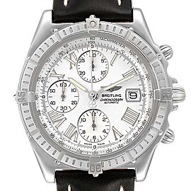 Breitling Windrider Cockpit White Dial Steel Mens Watch A13055 Box Papers