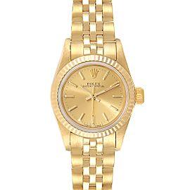 Rolex President No-Date 14K Yellow Gold Ladies Watch 67198
