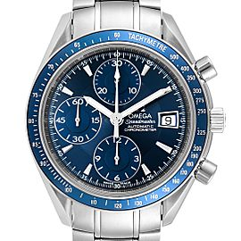 Omega Speedmaster Date Blue Dial Chronograph Mens Watch 3212.80.00