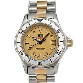 TAG HEUER 2000 974.008R-2 Gold Dial GP/SS Date Quartz Ladies Watch