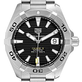 Tag Heuer Aquaracer Calibre 5 Black Dial Mens Watch WBD2110 Box Card