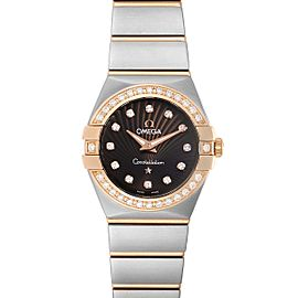 Omega Constellation MOP Diamond Steel Rose Gold Watch 123.25.24.60.63.001