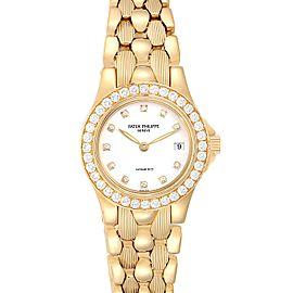 Patek Philippe Neptune Yellow Gold Diamond Ladies Watch 4881