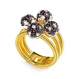 Della Riva 18K Yellow Gold Multi Diamond Spheres Ring Size 7