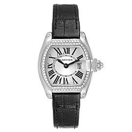 Cartier Roadster 18K White Gold Diamond Ladies Watch WE500260