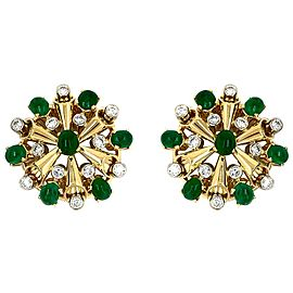 Aletto Brothers Diamond and Emerald Earrings