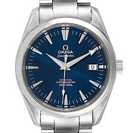 Omega Seamaster Aqua Terra Blue Dial Steel Mens Watch