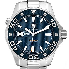 Tag Heuer Aquaracer Blue Dial Steel Mens Watch WAJ2112 Box Card