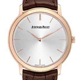 Audemars Piguet Jules Extra Thin Automatic Rose Gold Mens Watch 15180