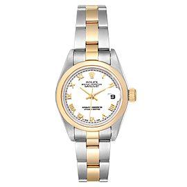 Rolex Datejust Steel Yellow Gold White Dial Ladies Watch 79163
