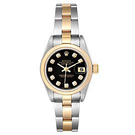 Rolex Datejust Steel Yellow Gold Diamond Ladies Watch 79163
