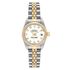 Rolex Datejust Steel Yellow Gold Diamond Ladies Watch 79173