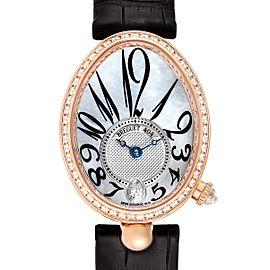 Breguet Reine de Naples Rose Gold MOP Diamond Ladies Watch 8818