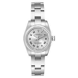 Rolex Nondate Steel White Gold Roman Numerals Ladies Watch 176234