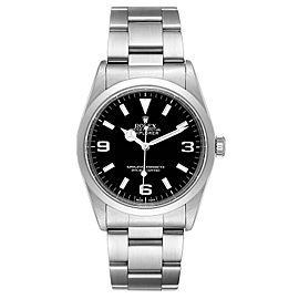 Rolex Explorer I Black Dial Stainless Steel Mens Watch 14270