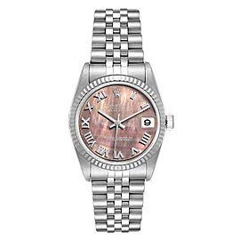 Rolex Datejust Midsize Steel White Gold MOP Dial Ladies Watch 78274