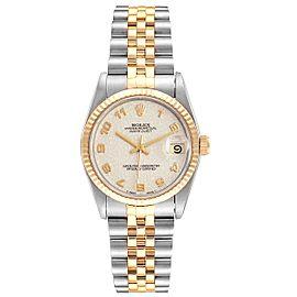 Rolex Datejust Midsize 31 Steel Yellow Gold Ladies Watch 68273