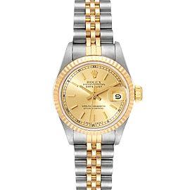 Rolex Datejust Steel Yellow Gold Ladies Watch 69173 Box
