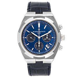 Vacheron Constantin Overseas Blue Dial Chronograph Watch 5500V Box Papers