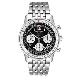Breitling Navitimer Black Arabic Dial Steel Mens Watch A23322