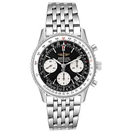 Breitling Navitimer Black Dial Chronograph Steel Mens Watch A23322 Box