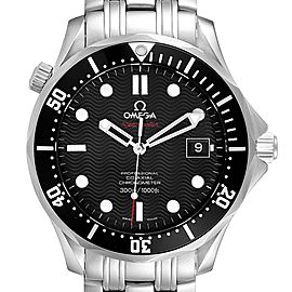 Omega Seamaster Black Dial Steel Mens Watch 212.30.41.20.01.002 Card