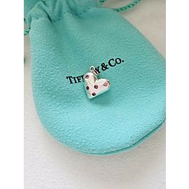 Tiffany & Co. Sterling Silver Pink Sapphire Etoile Heart Pendant