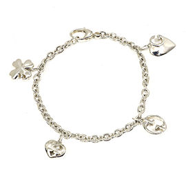 GUCCI Sterling Silver Icon Charm Chain Bracelet CHAT-157