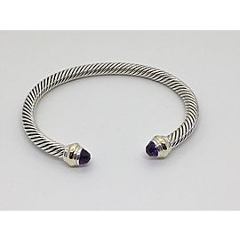 David Yurman 14K Yellow Gold Sterling Silver Amethyst Bracelet