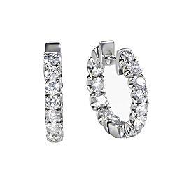 18K White Gold with 2.31ct Diamond Hoop Earrings