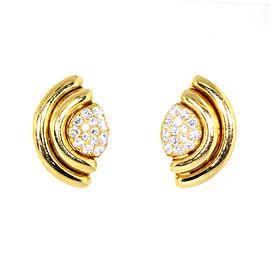 Bvlgari 18K Yellow Gold Vintage Diamond Earrings