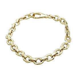 Cartier 18K Yellow Gold Charm Chain Bracelet Size:16cm