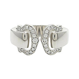 Cartier 18K White Gold Bukuruse Small Ring Size 4.75