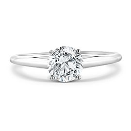 1.00 Carat Round Diamond Solitaire Ring in HI Color I2 Clarity in 14K White Gold