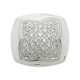 Bulgari 750 White Gold and Diamond Piramide Ring Size 5.75