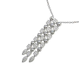Bulgari 750 White Gold Lucia Necklace