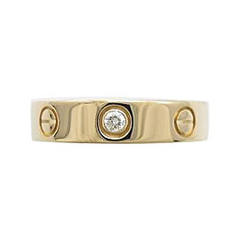 Cartier 18K Pink Gold & 0.02ct Diamond Mini Love Ring Size 4.5