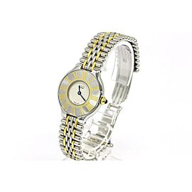 Cartier Must 21 Gold Plated Steel Quartz Womens Watch