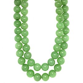 Jade Beads Long Necklace