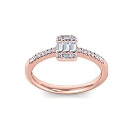 Baguette Diamond Ring In 14K Gold with 0.66ct White Diamonds
