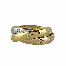 CARTIER 18k Gold Diamond Trinity ring CHAT-1005