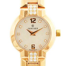 Concord 18K Pink Gold diamond Watch