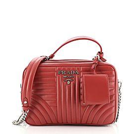 Prada Zip Around Top Handle Bag Diagramme Quilted Leather Medium