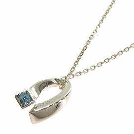 GUCCI Silver logo Necklace