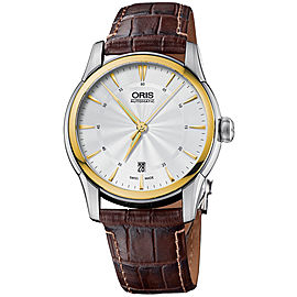 Oris Artelier 0173376704351-0712173FC Stainless Steel & Leather 40mm Watch