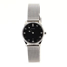Gucci G-Timeless Charm Quartz Watch Stainless Steel with Mother of Pearl and Diamond Markers 29